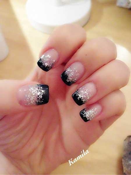 Glitter, Galaxyglitter Nail, Gel, Galaxies, Sparkle, Galaxy, French, Photos,