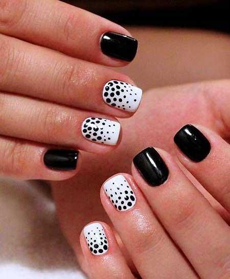 Lka Dots Dots, Dot Nail, Easter Bunny Nail, Pretty Nail, Short, White, Dot, Bunny
