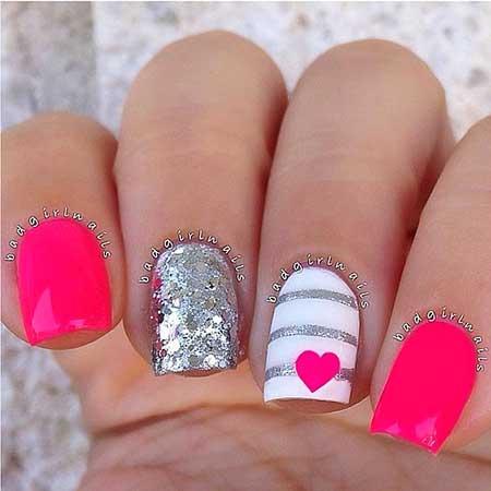 Nail Glitter Nail, Pretty Nail, Badgirl Nail, Bright, Decorated