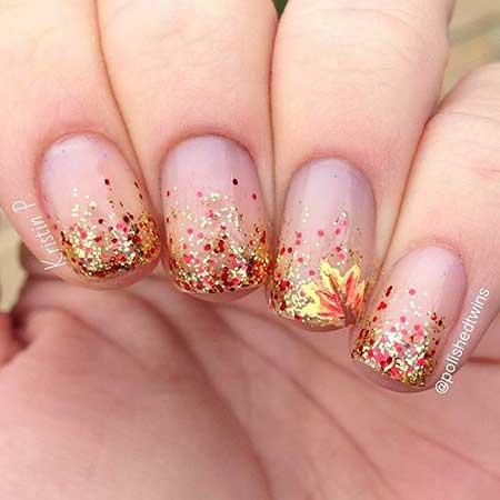 Glitter Nail, Glitter, Polish, Nail Polish, Pink, Fall, 2017, Cool, Idea