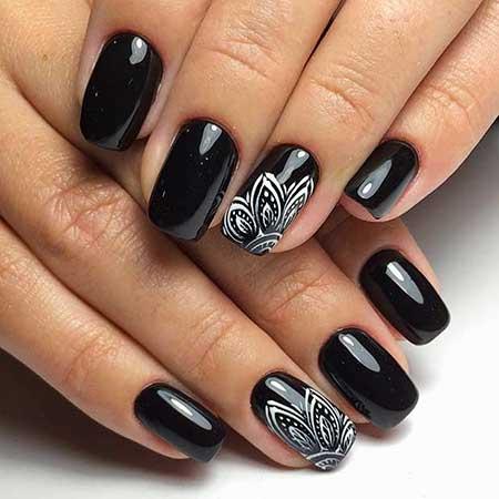 Art, Black Nail, Accent Nail Black