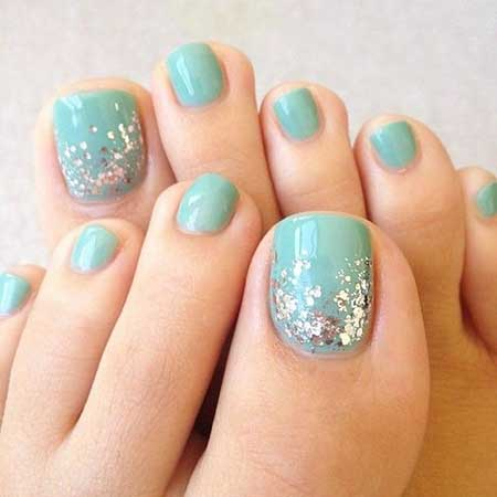 Toe Nail, Toe, Easy Nail, Glitter, Accent Nail, Summer Accent, Easy, Toe