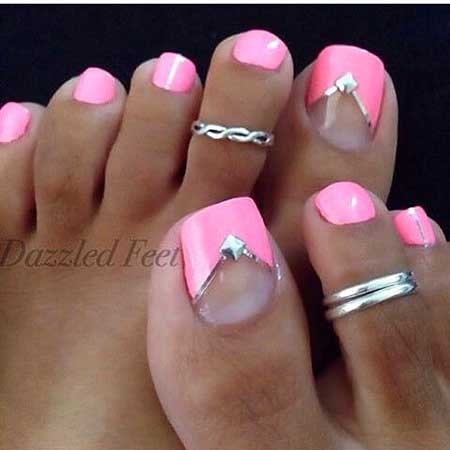 Toe Nail, Pink, Pink Pretty Nail, Summer Toe