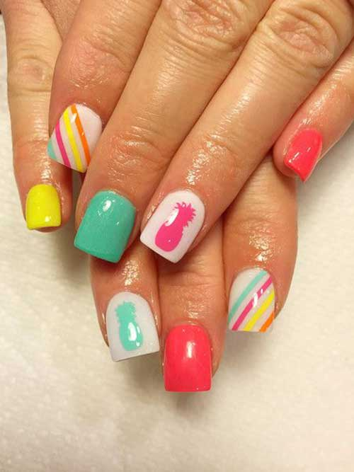 Short Nail Designs-10 - Unique Medium And Short Nails For Stylish Ladies