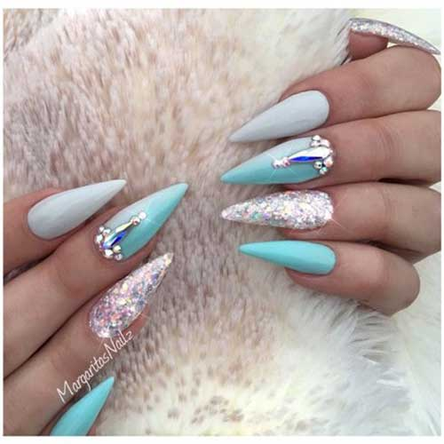 Very Long Nail Design - 10.Very Long Nail Design - Nail Art Designs 2017