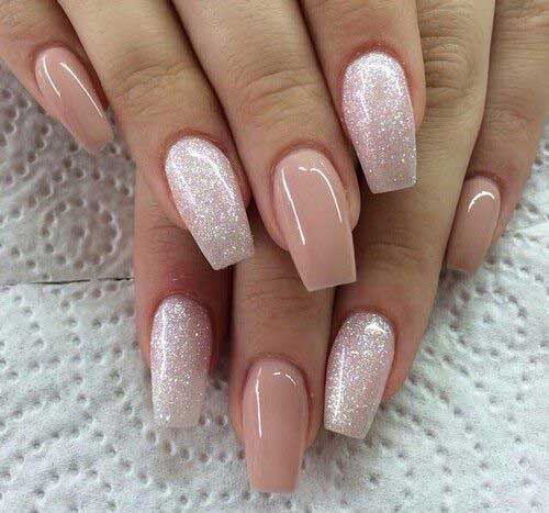 13.Natural Nail Design - Nail Art Designs 2017