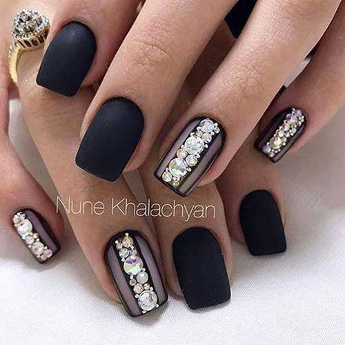 Black Nail Design - 8.Black Nail Design - Nail Art Designs 2017