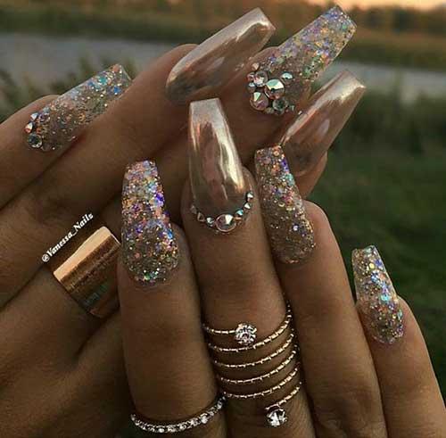 Glittered Nail Designs-8