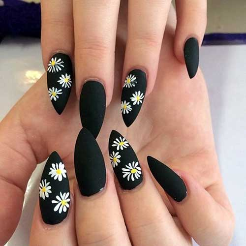 Stiletto Shape Nails Designs-8