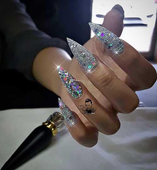 Glittered Nail Designs-9