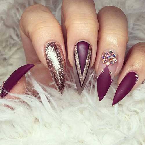 Stiletto Shape Nails Designs-9