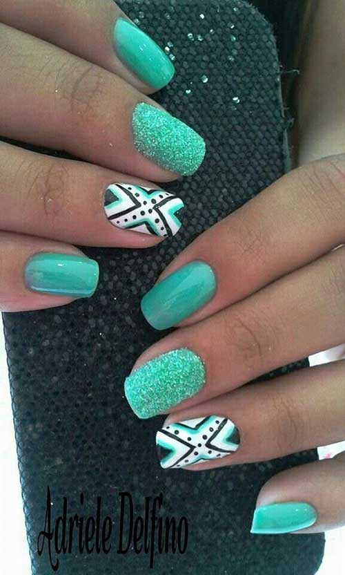 Green Nail Arts Designs-10