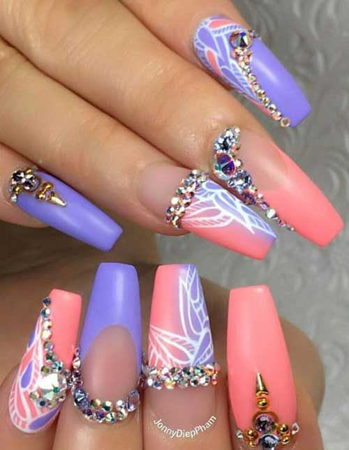 Nail Designs with Rhinestones-12