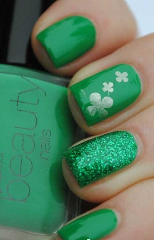 Green Nail Arts Designs-14