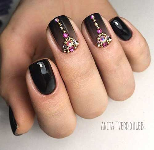 Nail Designs with Rhinestones-14