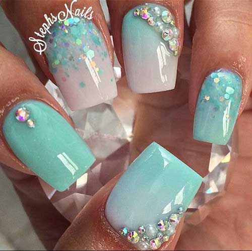 Green Nail Arts Designs-15