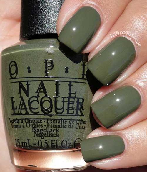 Green Nail Arts Designs-6