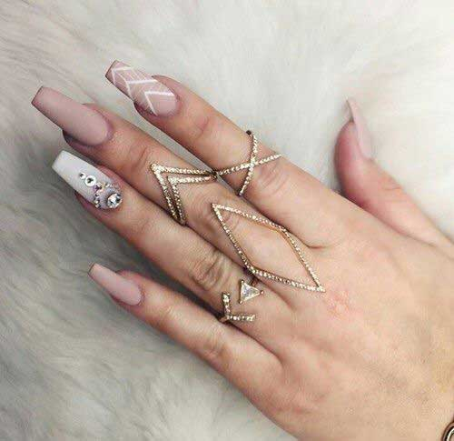 Amazingly Beautiful Nail Art Designs with Rhinestones