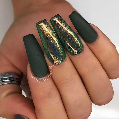 Green Nail Arts Designs-7