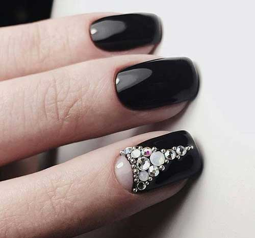 Nail Designs with Rhinestones-7