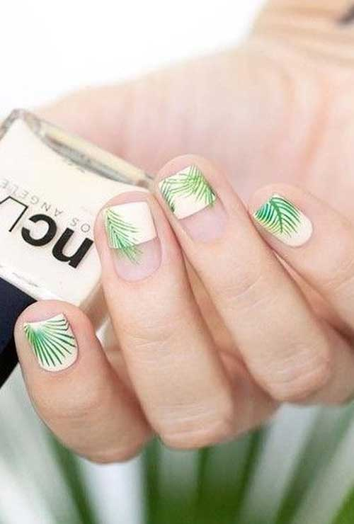 Green Nail Arts Designs-8