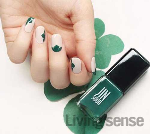 Green Nail Arts Designs-9