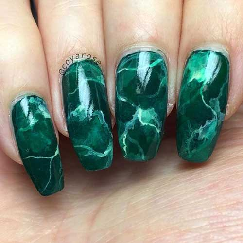 Green Nail Designs - Green Nail Arts And Designs You Will Love
