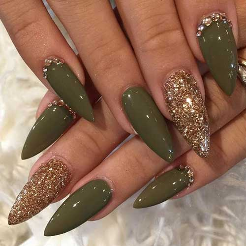 Nail Designs Green Color