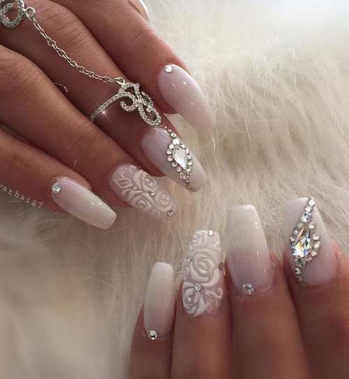 Nail Design with Rhinestones - Amazingly Beautiful Nail Art Designs With Rhinestones