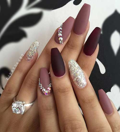 Rhinestones Nails 2017 - Nail Art Designs 2017
