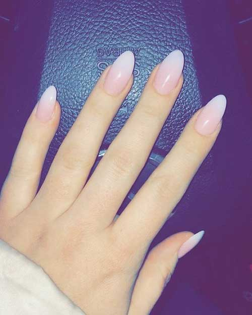 Almond Shape Nails - 11.Almond Shape Nails - Nail Art Designs 2017