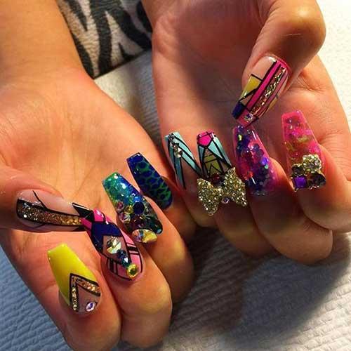 Glittered Nail Art Designs-11