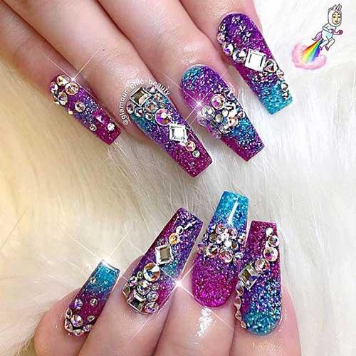 Glittered Nail Art Designs-14
