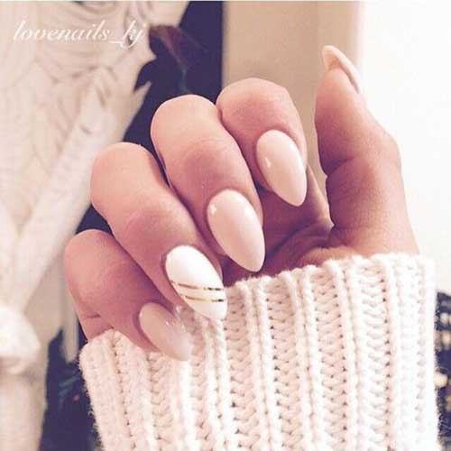 Almond Shape Nail Designs-6