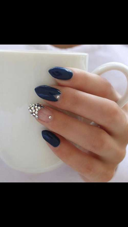 Almond Shape Nail Designs-9