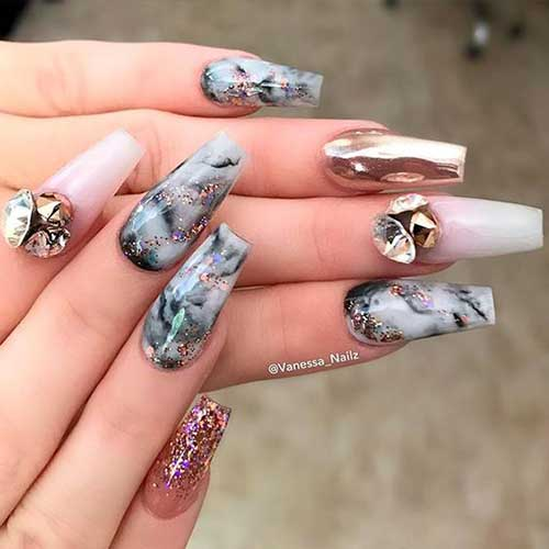 Coffin Nail Arts - Coffin Nail Designs For An Unique Look