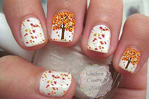 Fall Season Nail Design