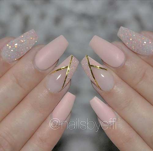 Outstanding Nude Base Colored Nail Designs