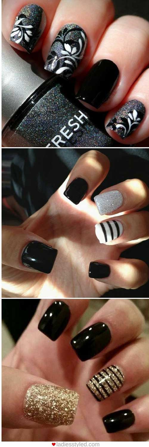 Dark Nail Color Designs-10