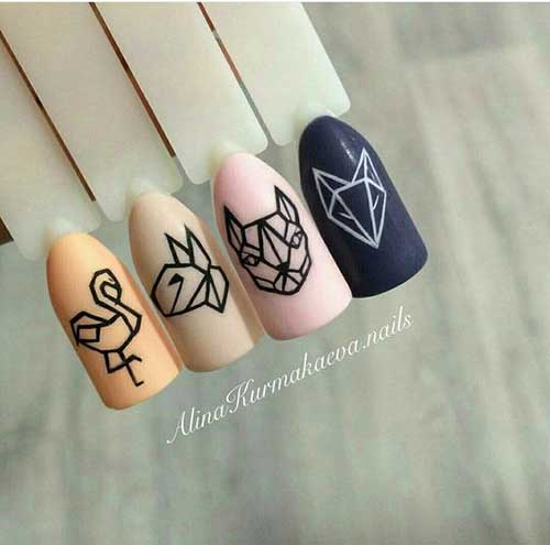Geometric Nail Designs-10