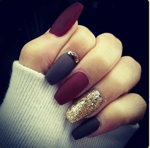 Dark Nail Color Design - 12.Dark Nail Color Design - Nail Art Designs 2017
