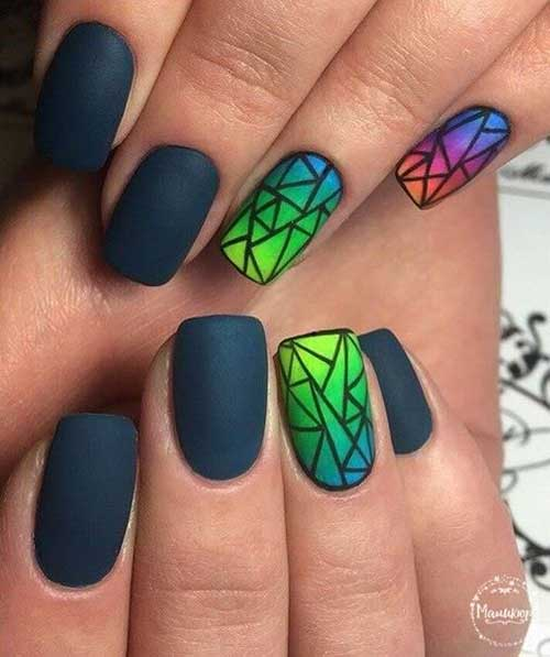 Ombre Colored Nail Designs-12