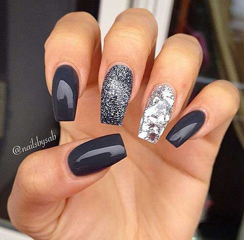 Dark Nail Color Design - 13.Dark Nail Color Design - Nail Art Designs 2017