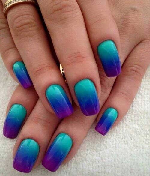 Ombre Colored Nail Designs-13