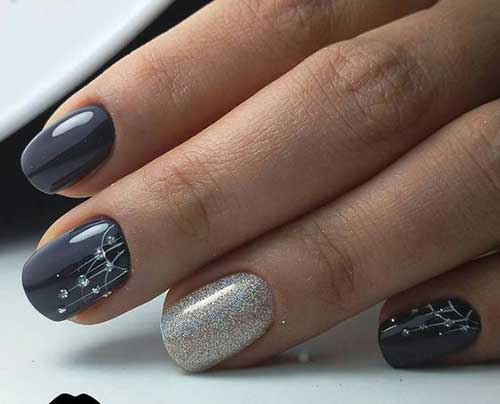 Dark Nail Color Design - 14.Dark Nail Color Design - Nail Art Designs 2017