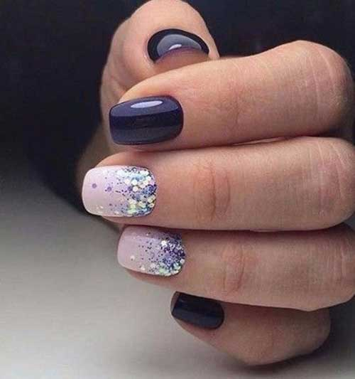 Dark Nail Idea - Gorgeous Glittered Nail Designs For A New Style