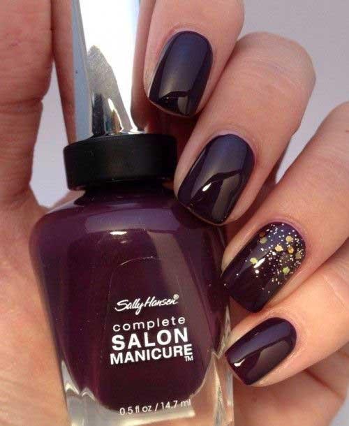 Dark Nail Color Designs-15