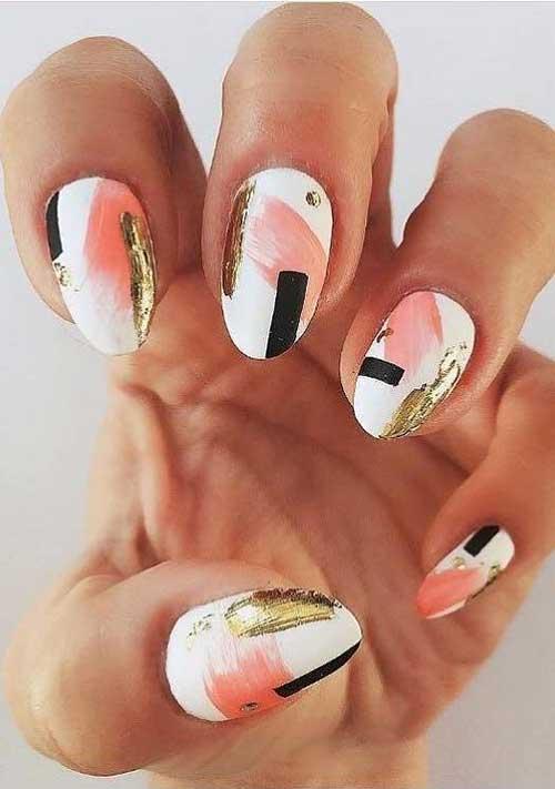 Almond Shape Nail Arts-6