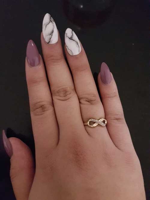 Almond Shape Nail Arts-7