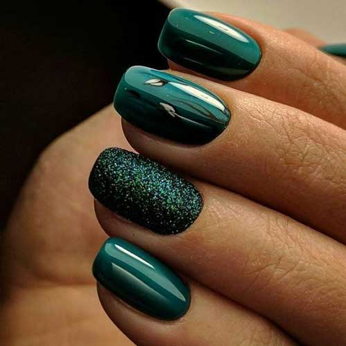 Dark Nail Color Design - 8.Dark Nail Color Design - Nail Art Designs 2017